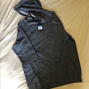 Nike half sleeve hooded sweatshirt